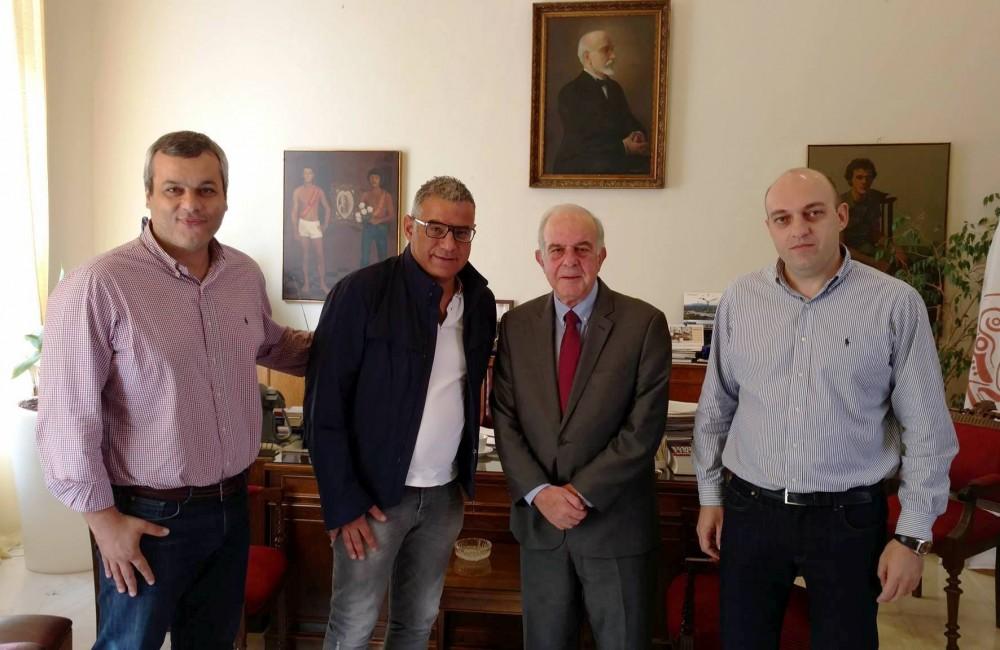 Συνάντηση του κ. Σάμι με τον Δήμαρχο Ηρακλείου