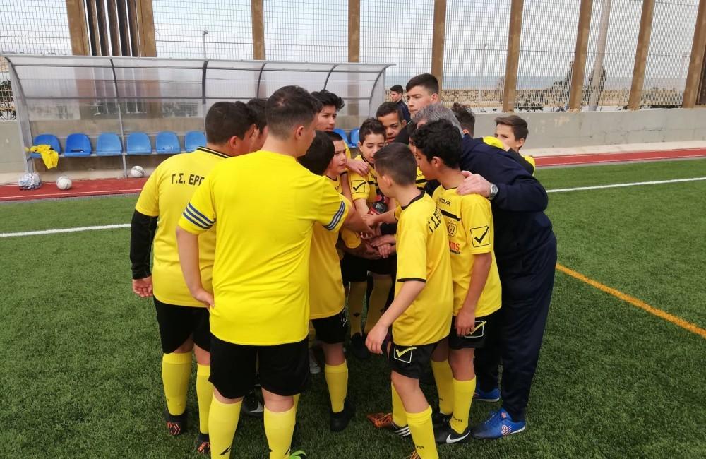 Η 8η αγωνιστική του παιδικού πρωταθλήματος και οι φιλικοί αγώνες της Ακαδημίας ΕΡΓΟΤΕΛΗ